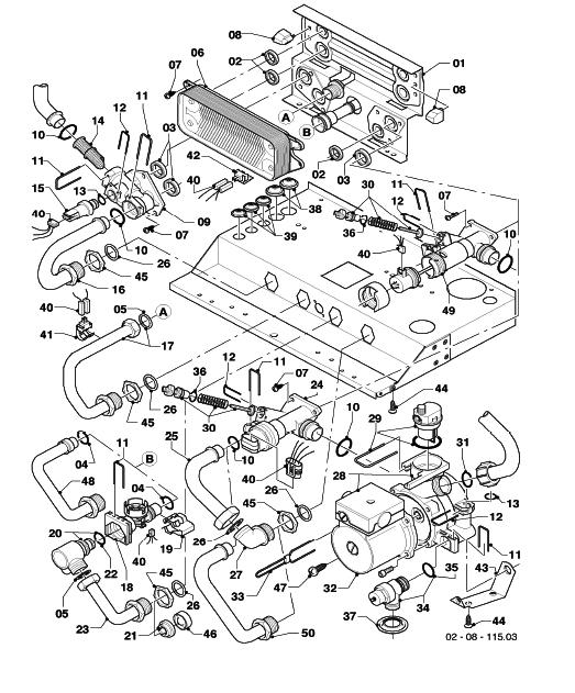 ecoTEC pro 24 Connection parts Hydroblock
